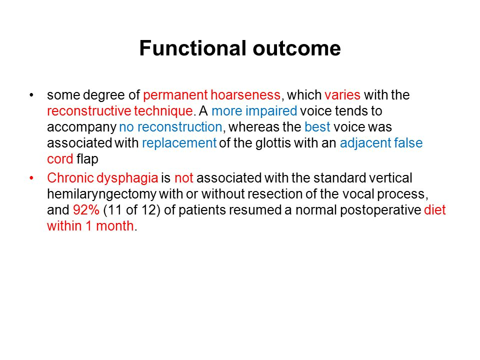 Functional outcome