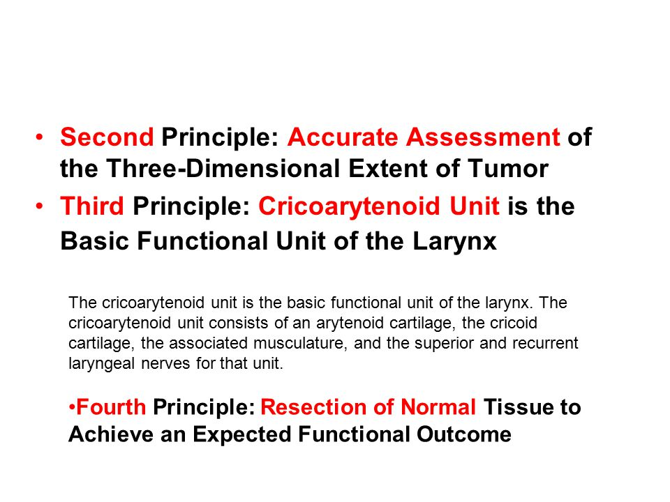 Second Principle: Accurate Assessment of the Three-Dimensional Extent of Tumor