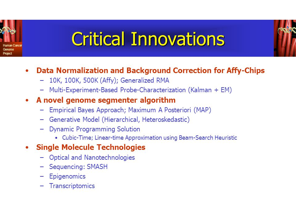 Critical Innovations Data Normalization and Background Correction for Affy-Chips. 10K, 100K, 500K (Affy); Generalized RMA.