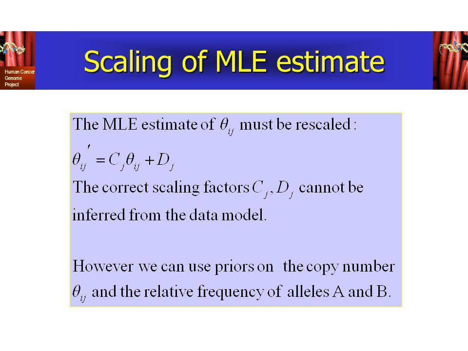 Scaling of MLE estimate