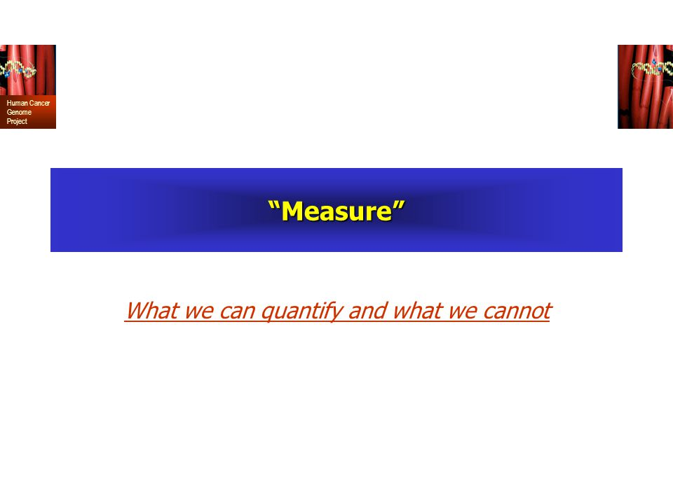 What we can quantify and what we cannot