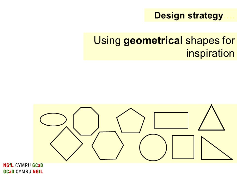 Using geometrical shapes for inspiration