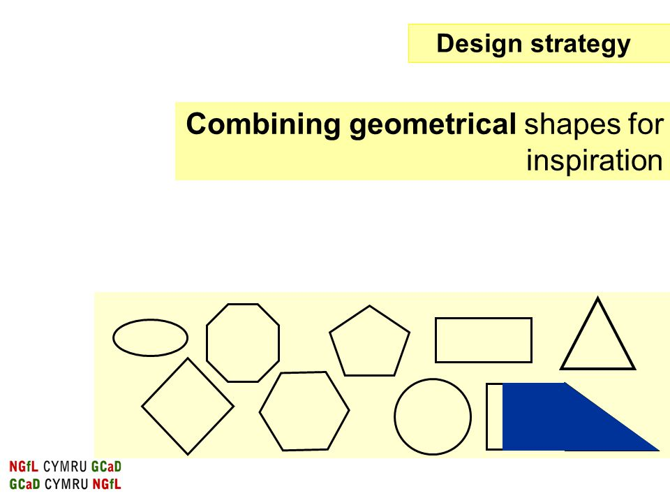 Combining geometrical shapes for inspiration