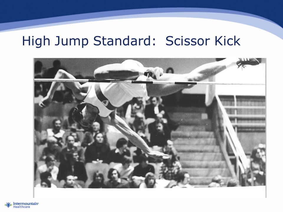 High Jump Standard: Scissor Kick