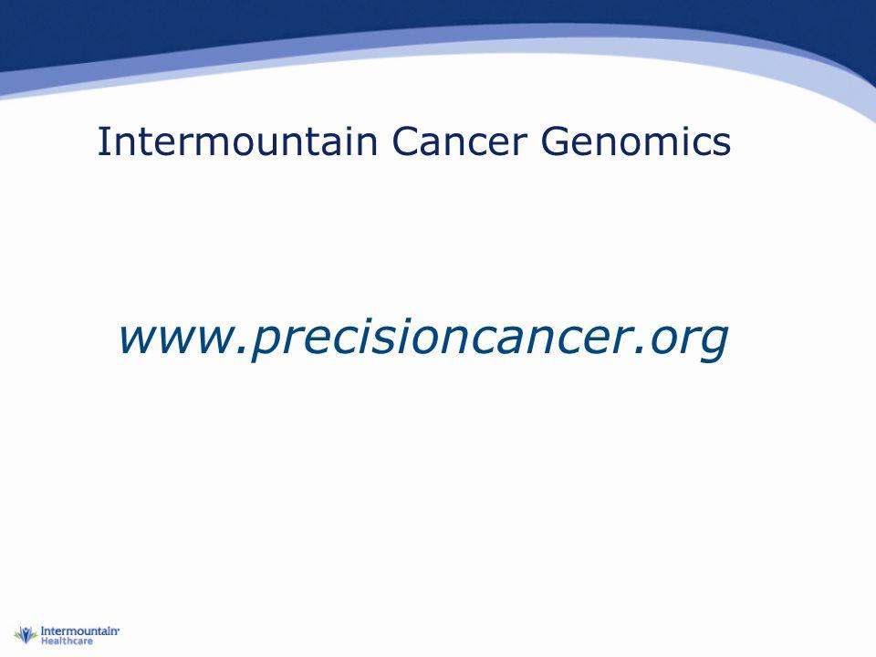 Intermountain Cancer Genomics