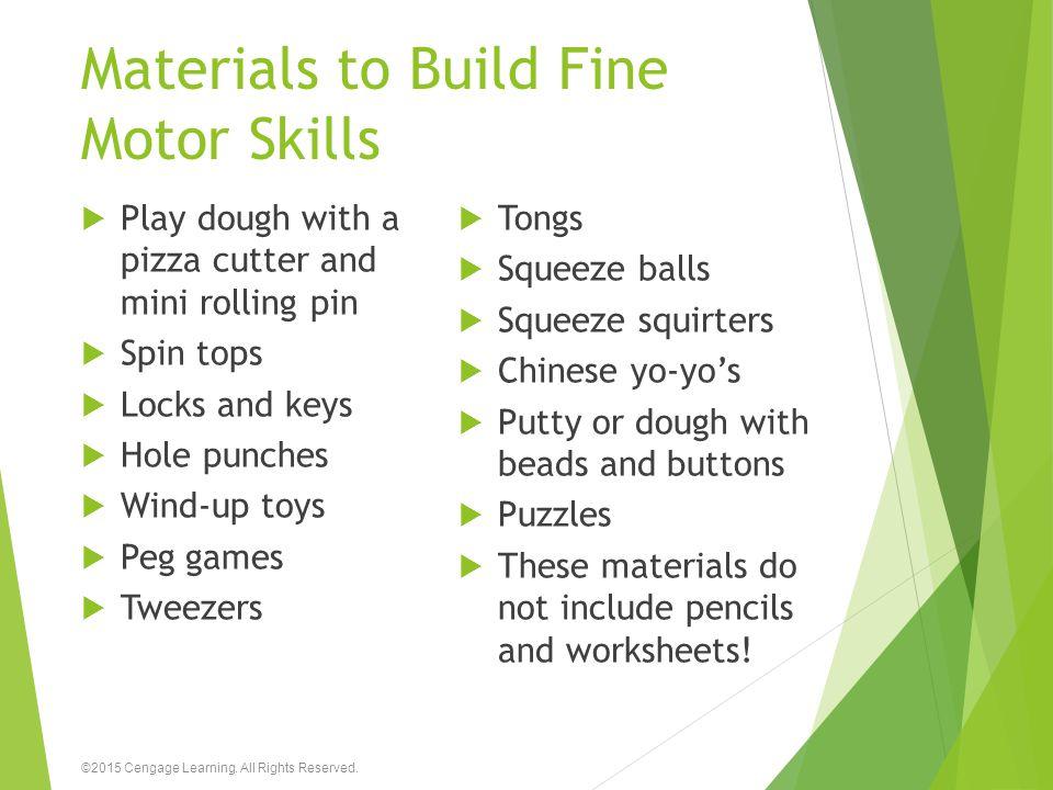 Materials to Build Fine Motor Skills