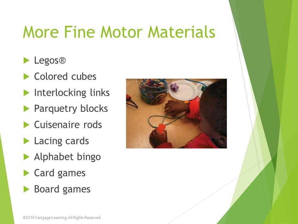 More Fine Motor Materials