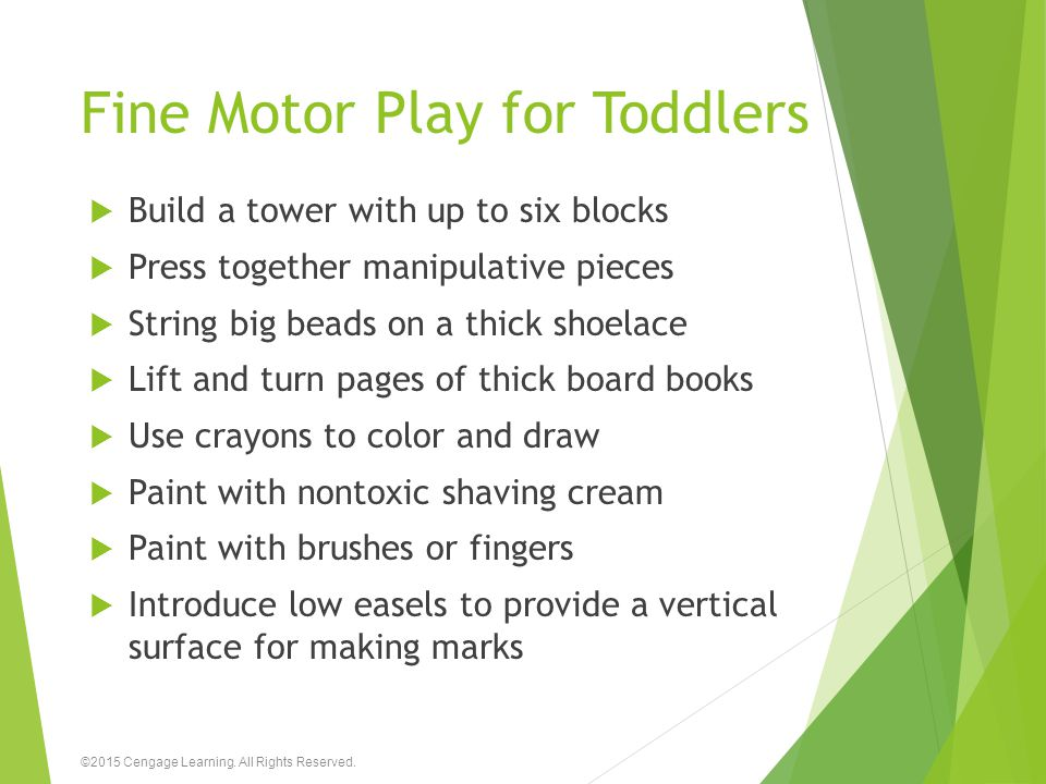 Fine Motor Play for Toddlers