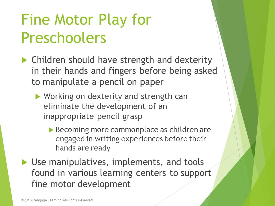 Fine Motor Play for Preschoolers