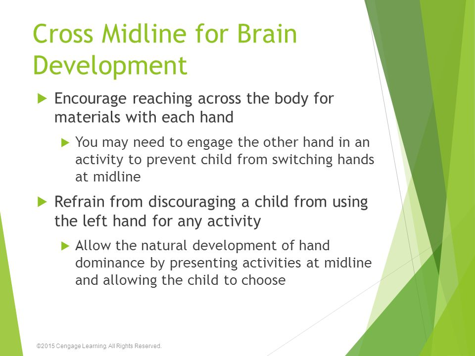 Cross Midline for Brain Development