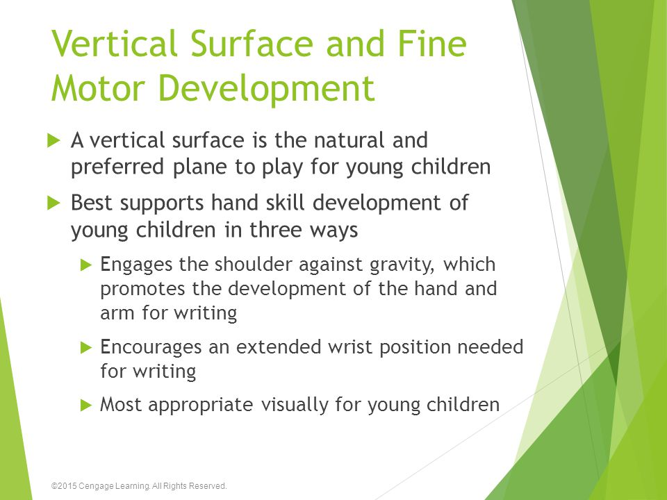 Vertical Surface and Fine Motor Development