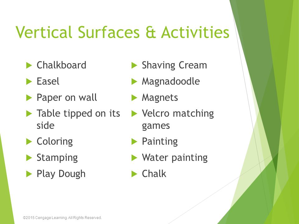 Vertical Surfaces & Activities