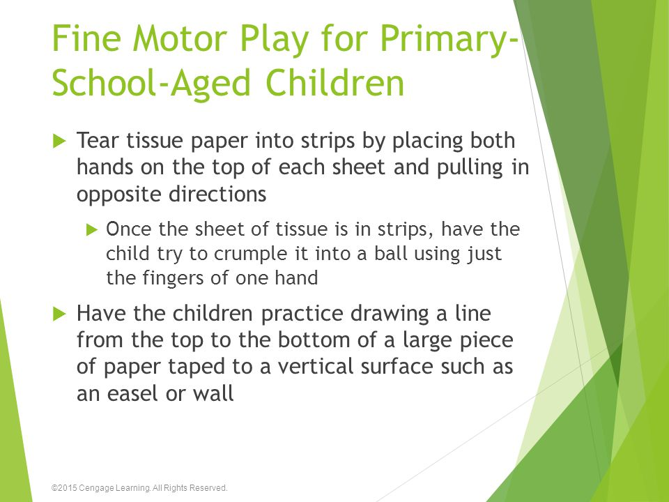 Fine Motor Play for Primary-School-Aged Children