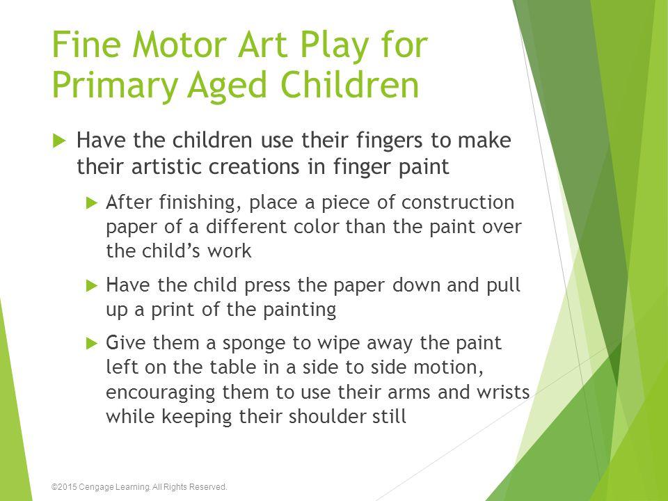 Fine Motor Art Play for Primary Aged Children
