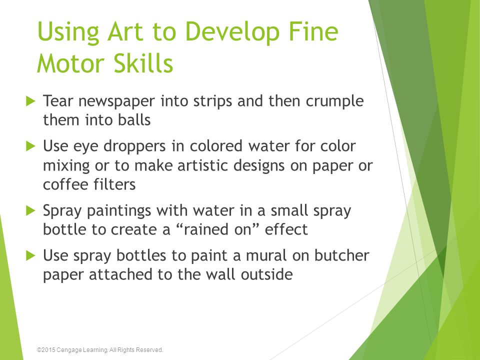 Using Art to Develop Fine Motor Skills