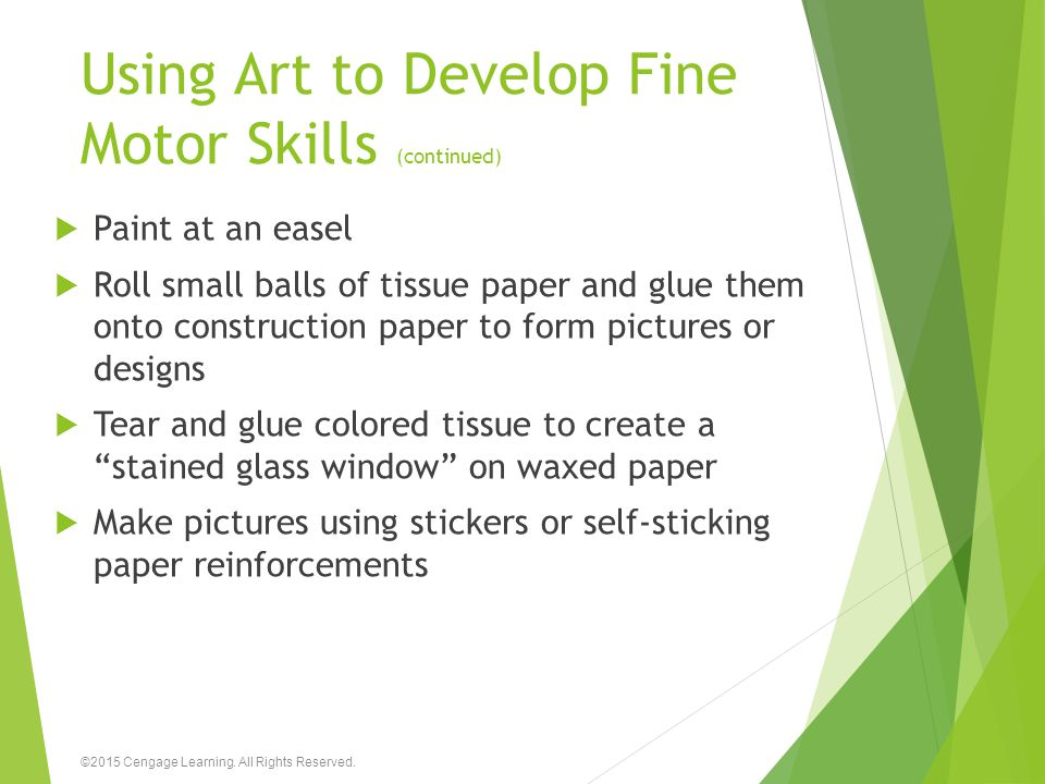 Using Art to Develop Fine Motor Skills (continued)