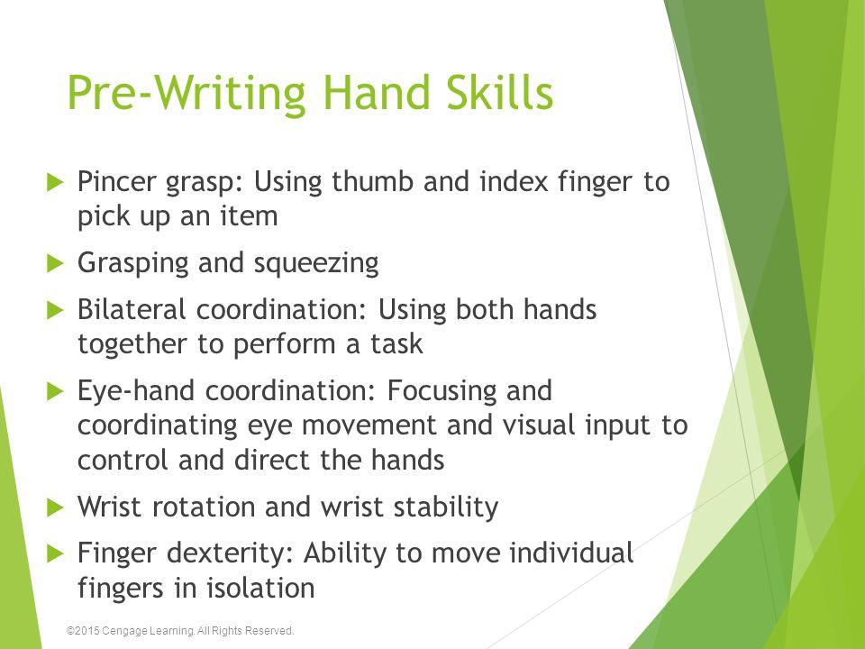 Pre-Writing Hand Skills