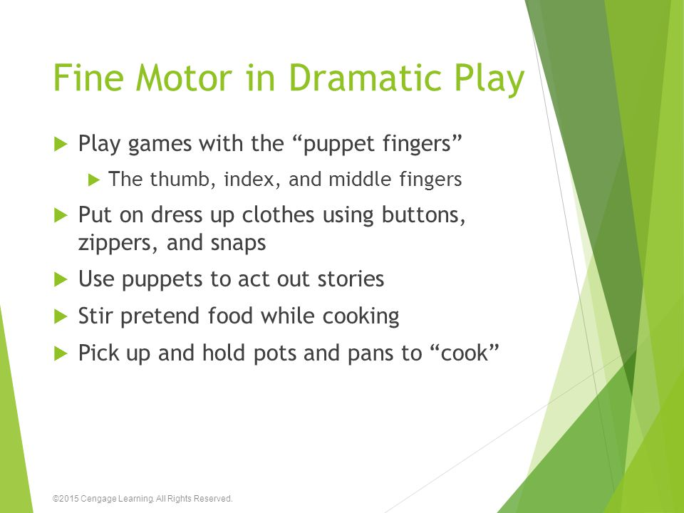 Fine Motor in Dramatic Play
