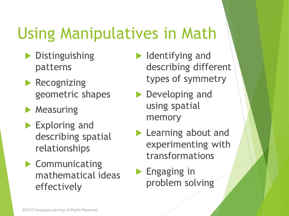 Using Manipulatives in Math
