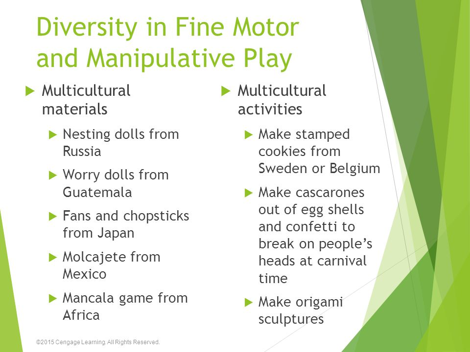 Diversity in Fine Motor and Manipulative Play