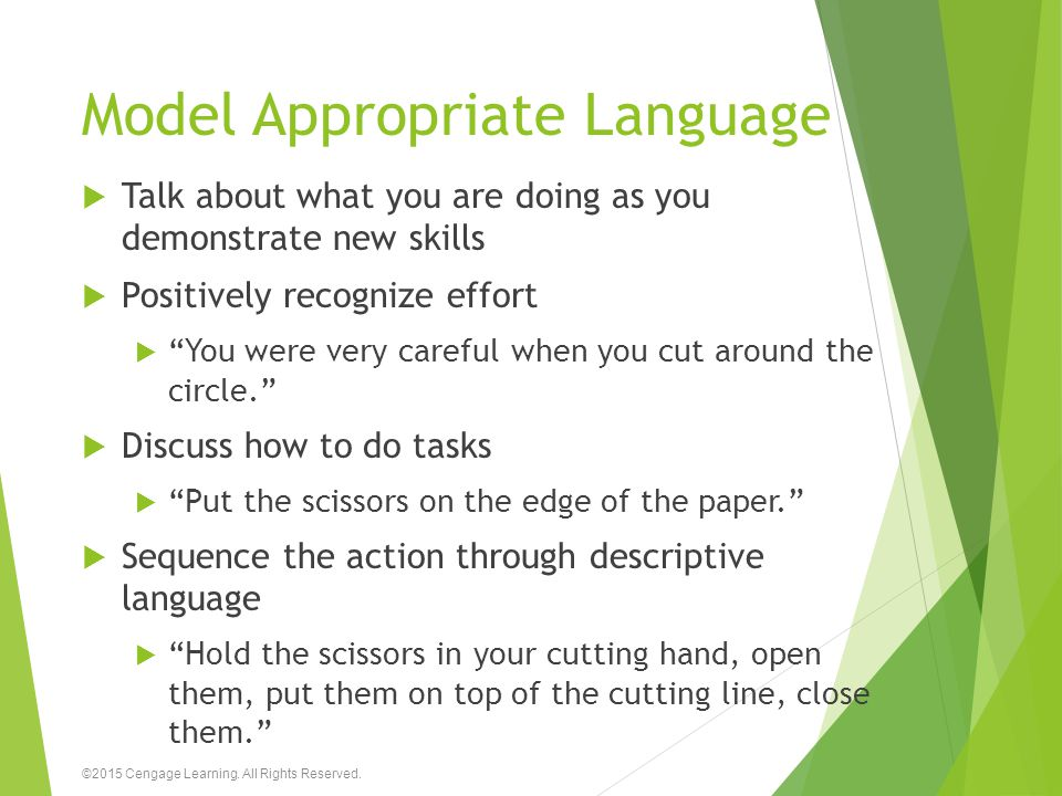 Model Appropriate Language