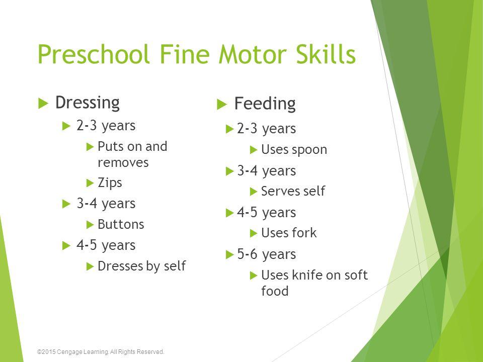 Preschool Fine Motor Skills