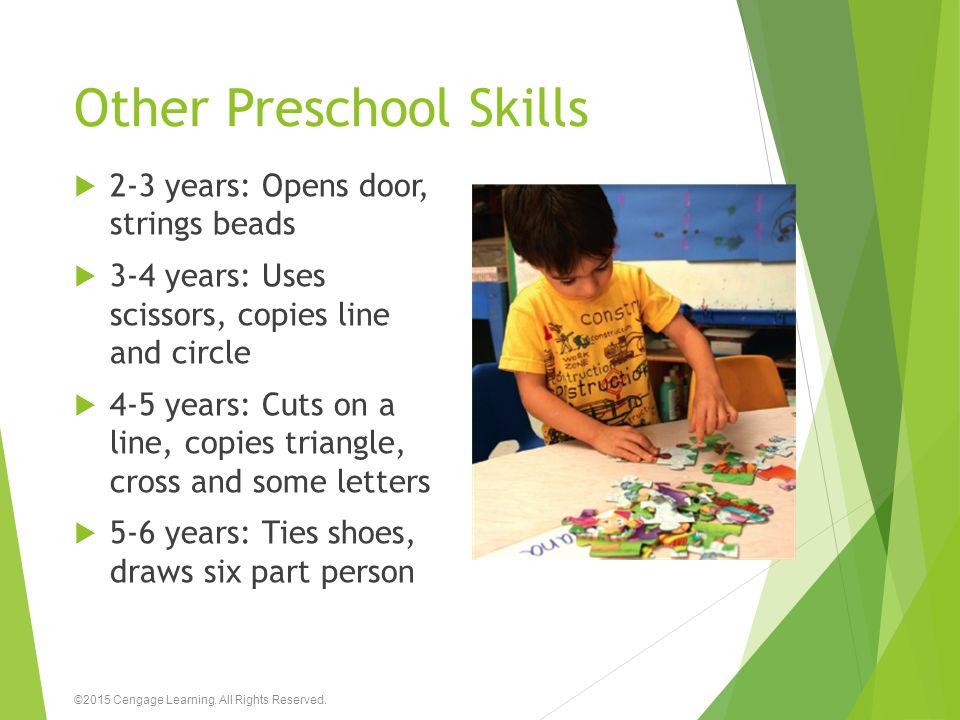 Other Preschool Skills