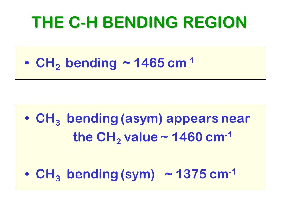THE C-H BENDING REGION CH2 bending ~ 1465 cm-1