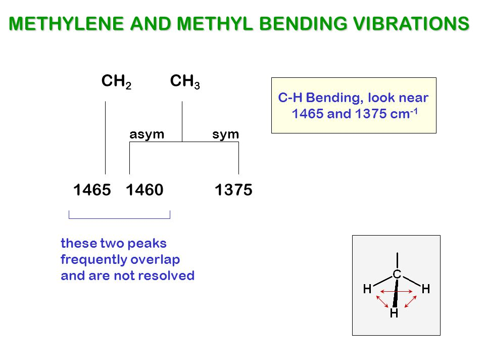 METHYLENE AND METHYL BENDING VIBRATIONS