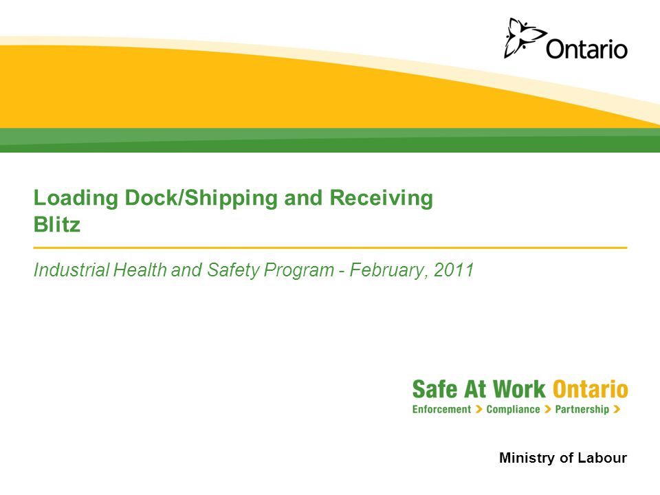 Loading Dock/Shipping and Receiving Blitz
