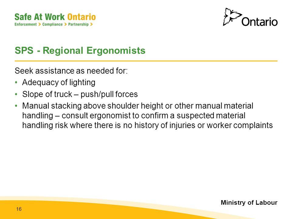 SPS - Regional Ergonomists