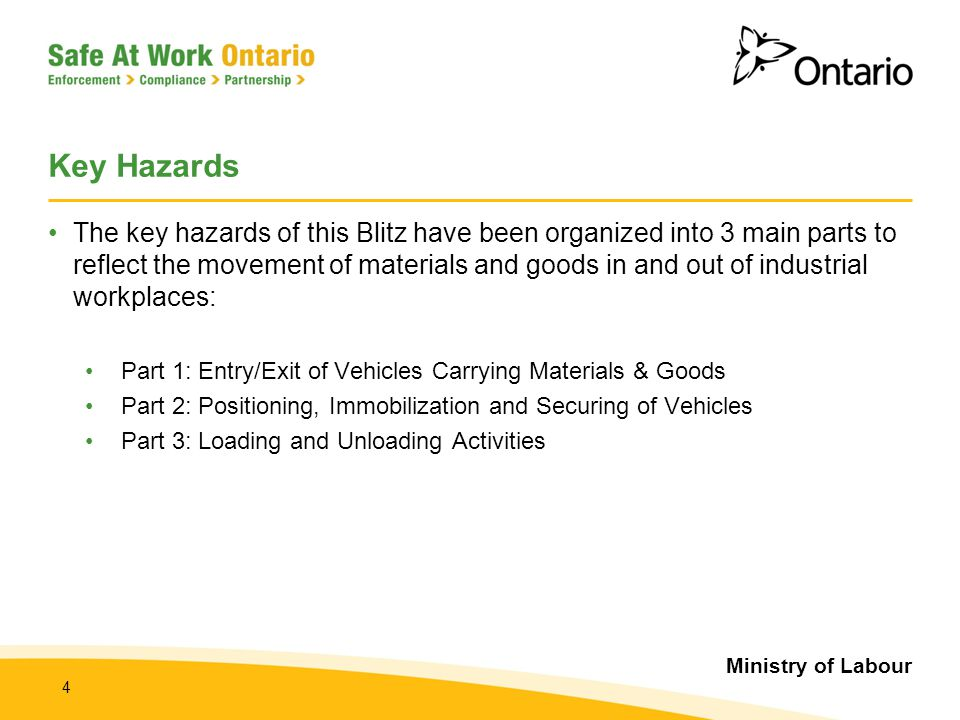 Key Hazards