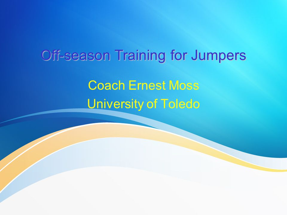 Off-season Training for Jumpers