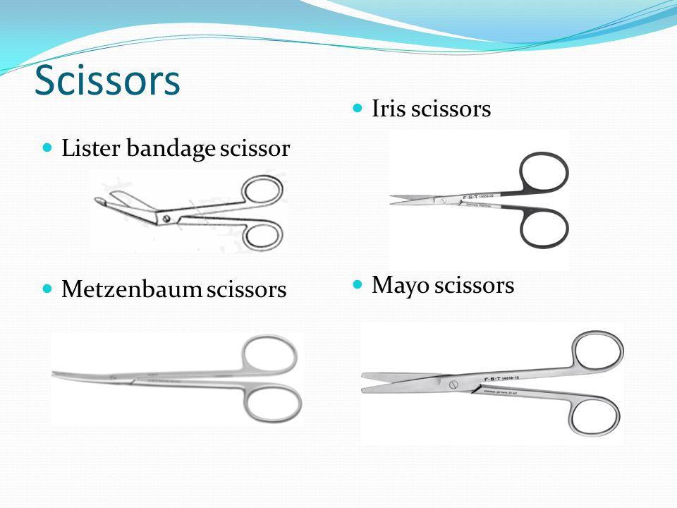 Scissors Iris scissors Lister bandage scissor Mayo scissors