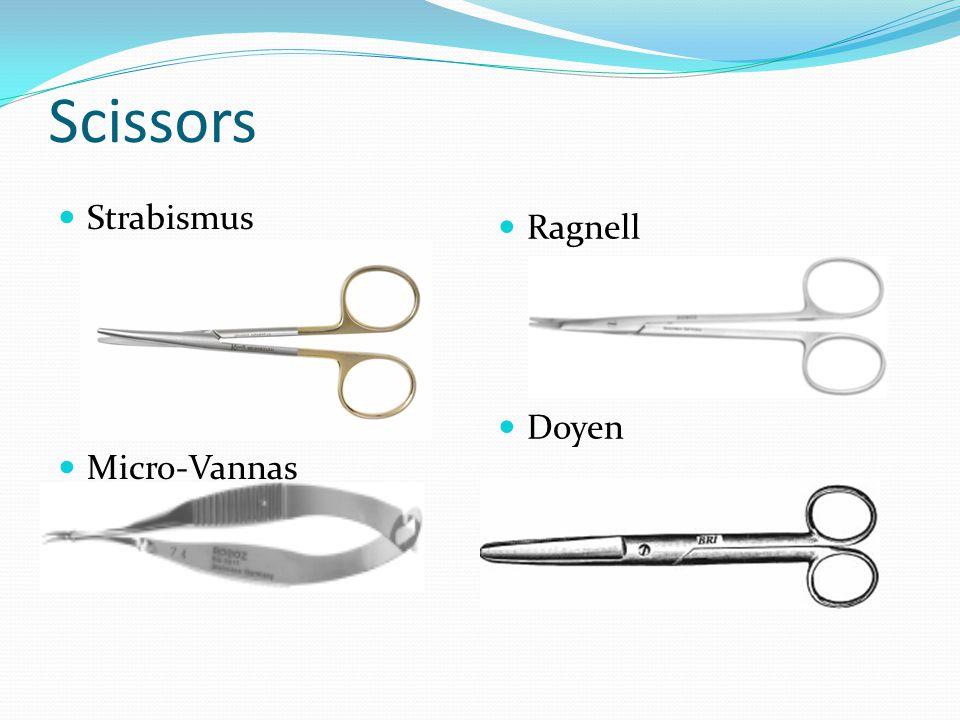 Scissors Strabismus Ragnell Doyen Micro-Vannas
