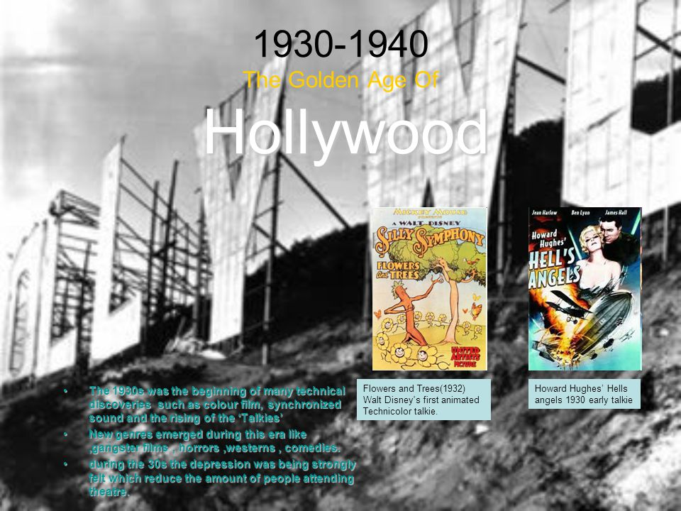1930-1940 The Golden Age Of Hollywood
