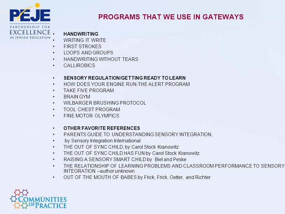 PROGRAMS THAT WE USE IN GATEWAYS
