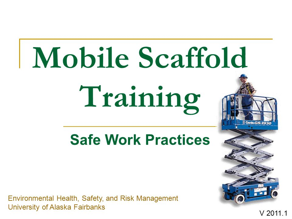 Mobile Scaffold Training