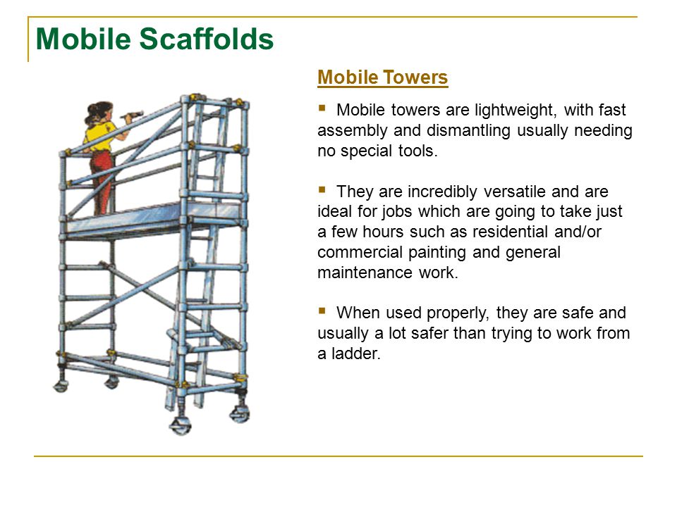 Mobile Scaffolds Mobile Towers