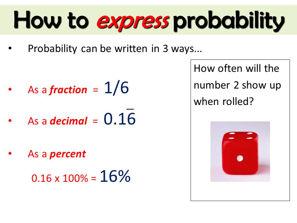 How to express probability