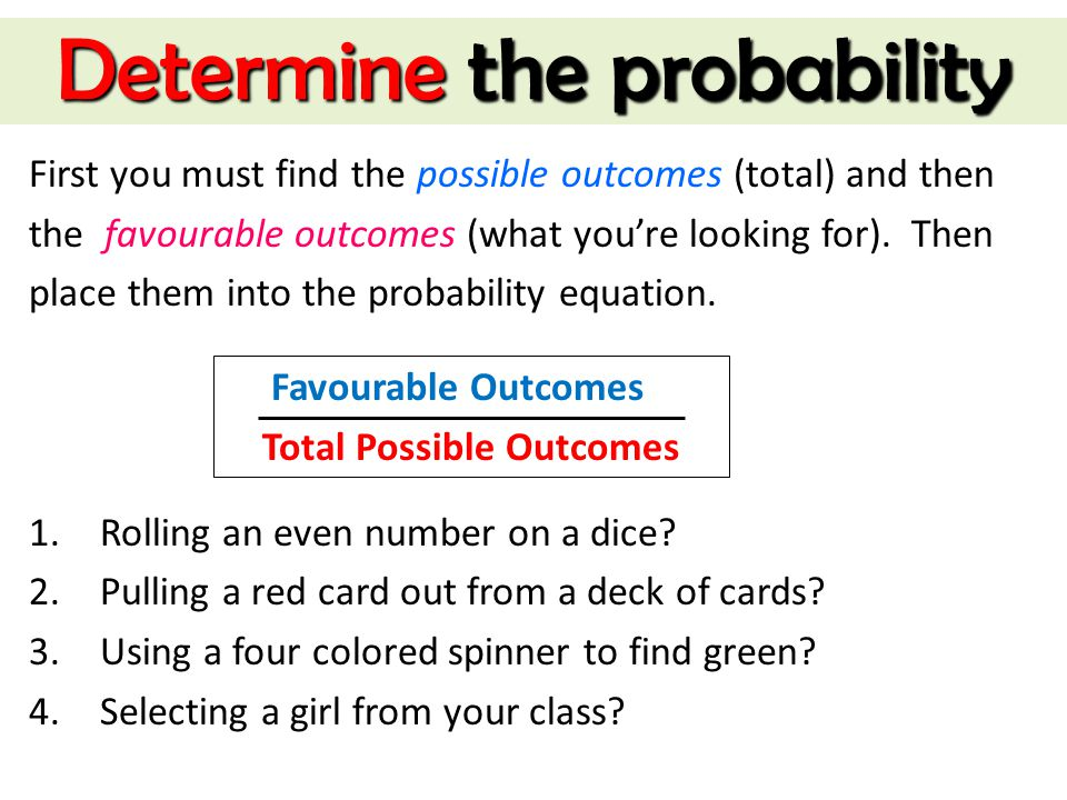 Determine the probability