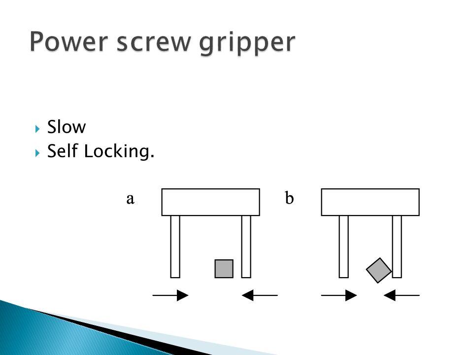 Power screw gripper Slow Self Locking.