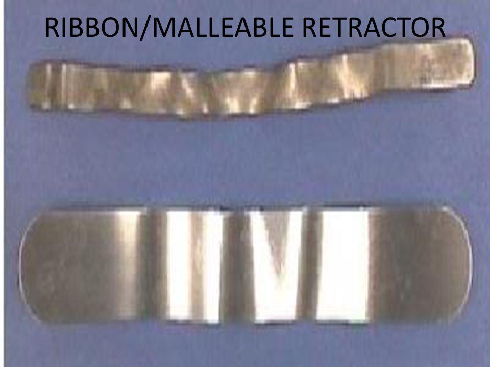 RIBBON/MALLEABLE RETRACTOR