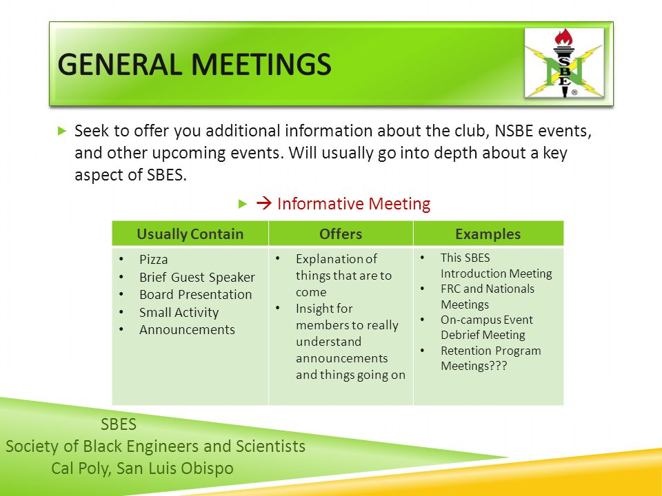 General meetings