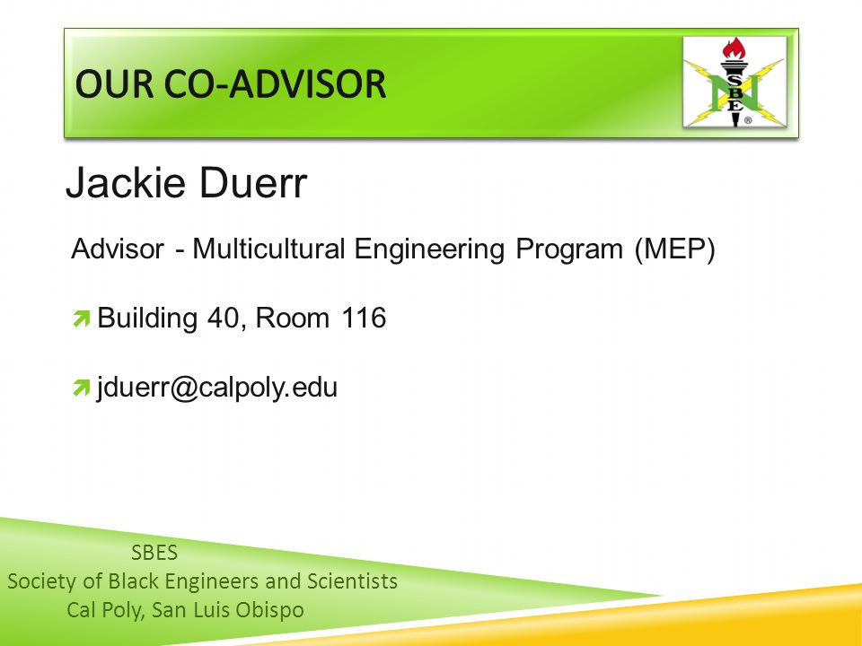 Our co-advisor Jackie Duerr