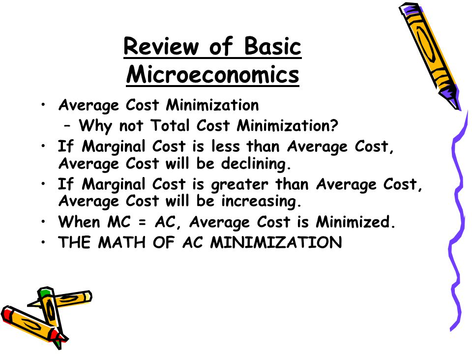 Review of Basic Microeconomics