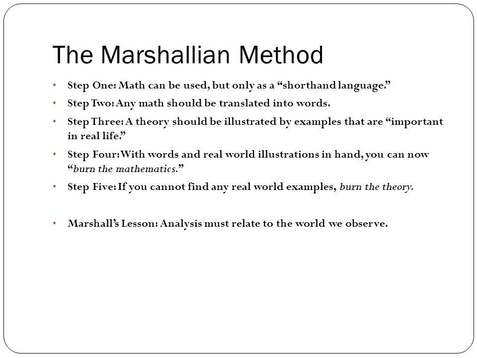The Marshallian Method