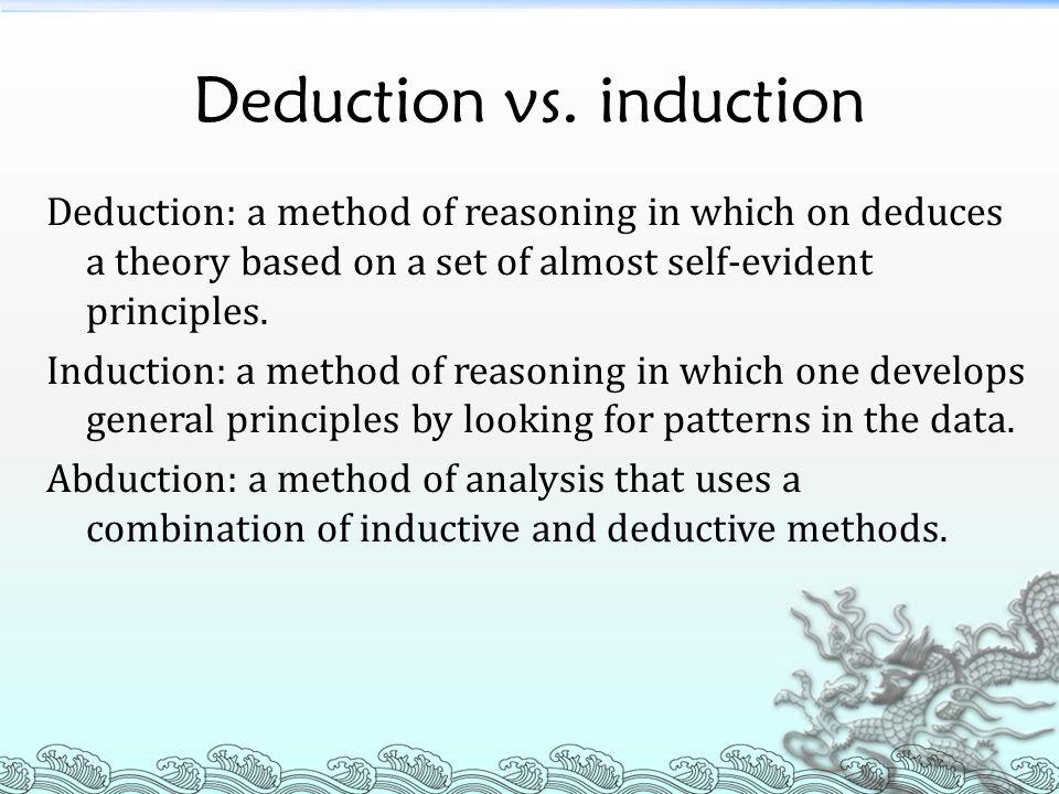 Deduction vs. induction
