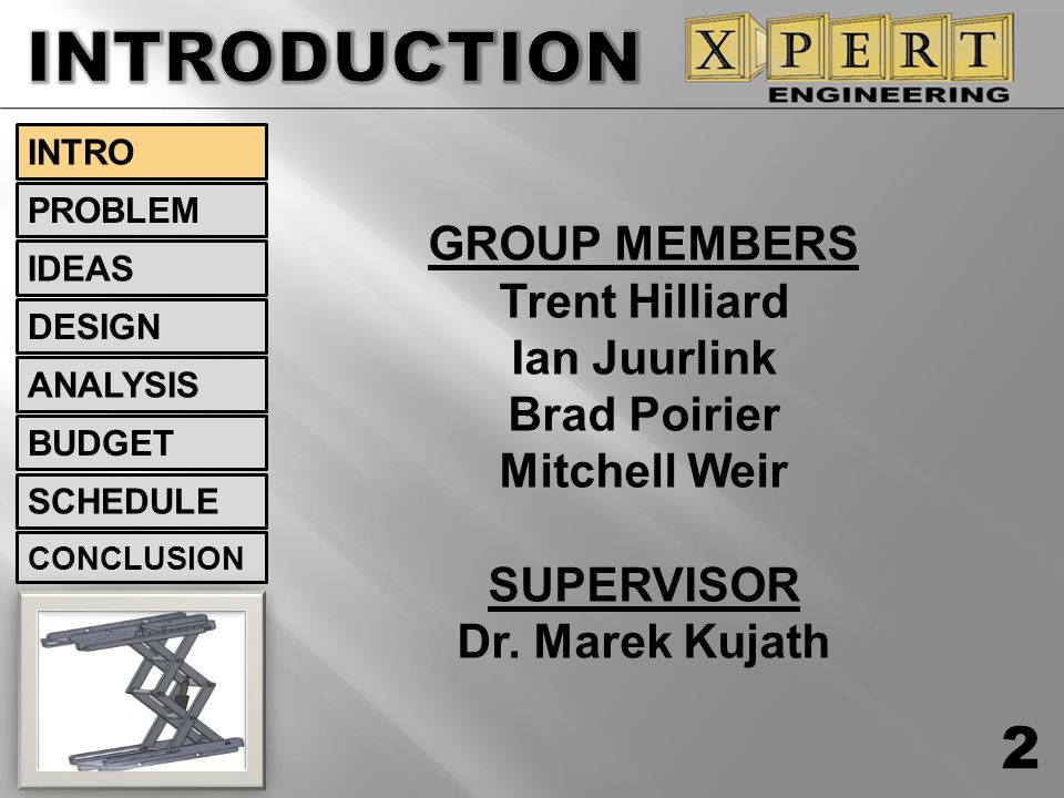 INTRODUCTION 2 GROUP MEMBERS Trent Hilliard Ian Juurlink Brad Poirier