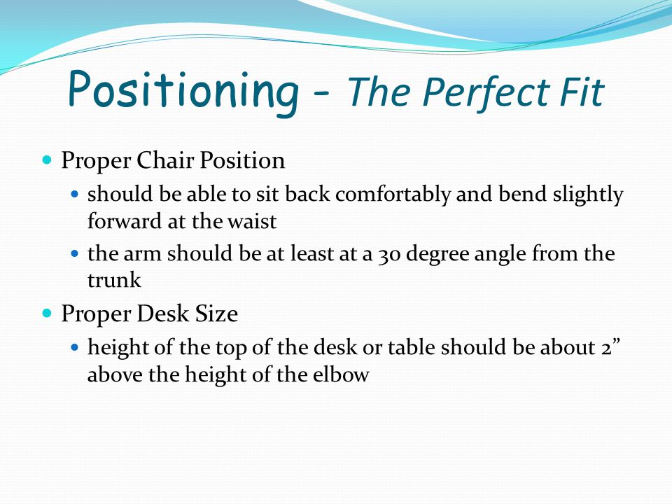 Positioning - The Perfect Fit